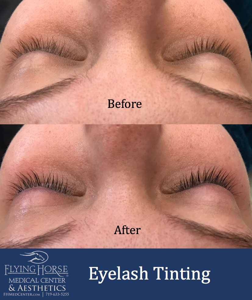 Eyelash tinting Services helps define eyes by darkening and accentuating the eyelashes